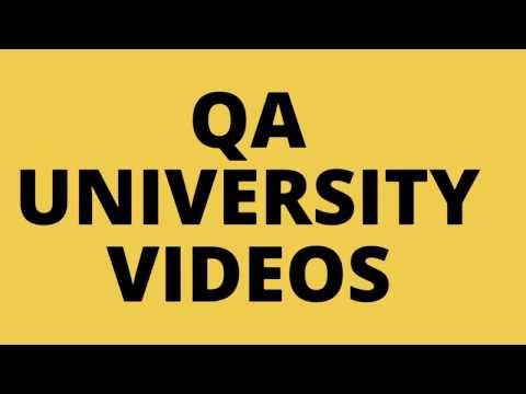 QA University | Introduction Video