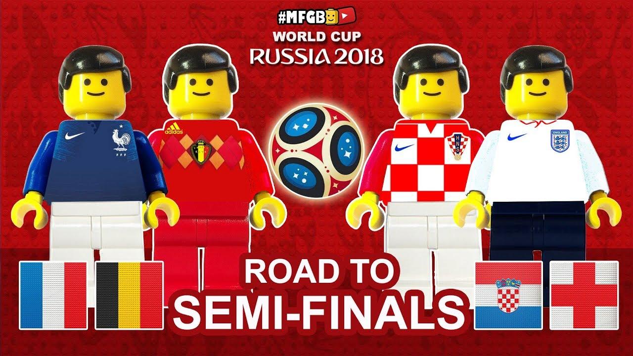 Download France Belgium Croatia England • Road to Semi-Finals World Cup 2018 • Goals Highlights Lego Football