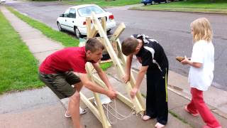 Trebuchet Launching 7th Grade Science Project