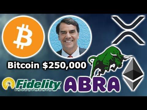 BITCOIN To $250K Tim Draper - NEW Crypto ETF - Fidelity BTC & XRP - Abra Banks - Ethereum Mortgages