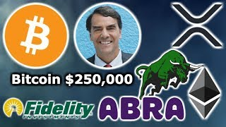 BITCOIN To $250K Tim Draper - NEW Crypto ETF - Fidelity BTC & XRP - Abra Banks - Ethereum Mortgages