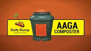 Aaga Composter for large volumes of Kitchen Waste from DD