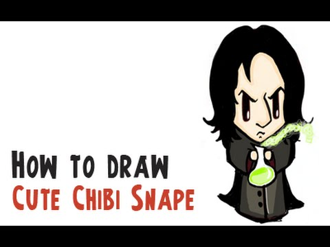 edad4f2bb How to Draw Severus Snape (Harry Potter Cutie Chibi Collection) - YouTube