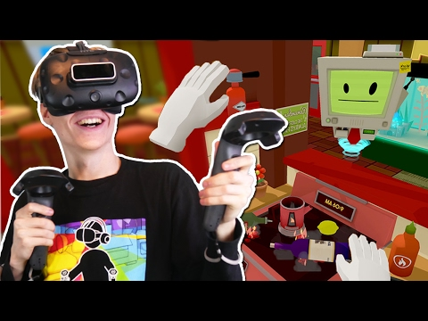 VIRTUAL REALITY COOKING SIMULATOR | Job Simulator VR (HTC Vive Gameplay)
