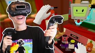 VIRTUAL REALITY COOKING SIMULATOR | Job Simulator VR (HTC Vive Gameplay)