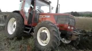 fiatagri f130 con aratro nardi bivomere