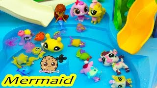 Littlest Pet Shop Mom and Baby Pool Party + Splashlings 12 Pack with 2 Surprise Blind Bag Shells