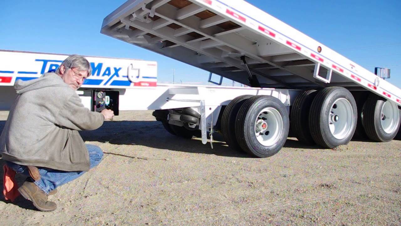 25k Lift Axle For Trailer : Trailmax trd t tiltbed with lift axle youtube
