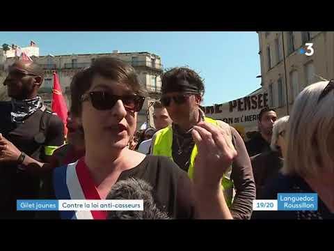 Manifestation du 13 avril à Montpellier JT de France 3