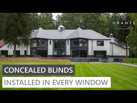 Luxury Home with Hidden Blinds In Every Window