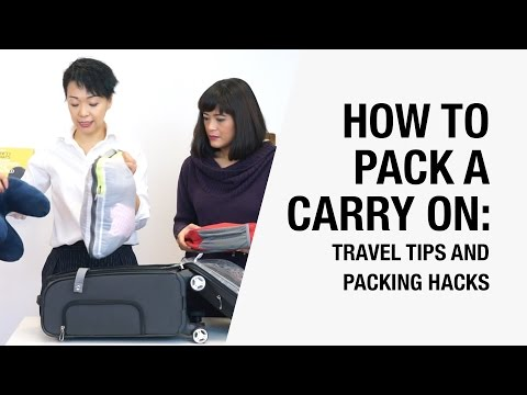 How to Pack a Carry On Suitcase Efficiently - 5 Travel Tips and Packing Hacks | Chictopia