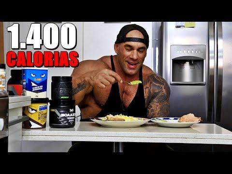 DIETA DE BODYBUILDER | CAFÉ COM 1400 CALORIAS