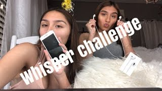 WHISPER CHALLENGE WITH MY TWIN!