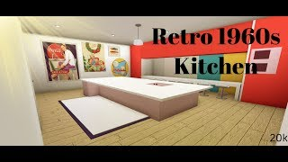 Roblox Bloxburg|| Retro 1960s Kitchen 20k