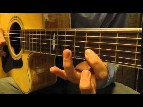 How to play Skinny Love on guitar with standard tuning and a capo