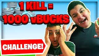 🤑PRO KILL 1000 vBUCKS FÜR BRUDER!😍 | Fortnite Challenge | Wick Brothers Gaming
