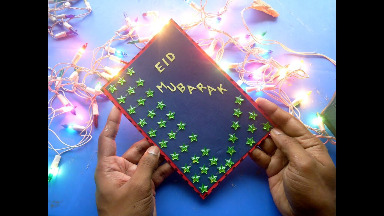 diy eid  how to make eid star card  youtube
