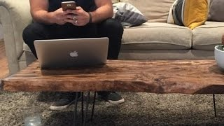 Rough Cut Wood Can Become An Amazing Coffee Table