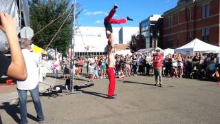 The Fringe in Edmonton 2013, the red trouser show, finaly the trick. 3 of 5