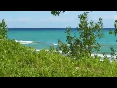 A day at Sandbanks beach on Lake Ontario Canada