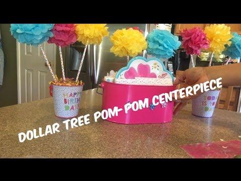 Pom Pom Centerpieces & Caddy Display