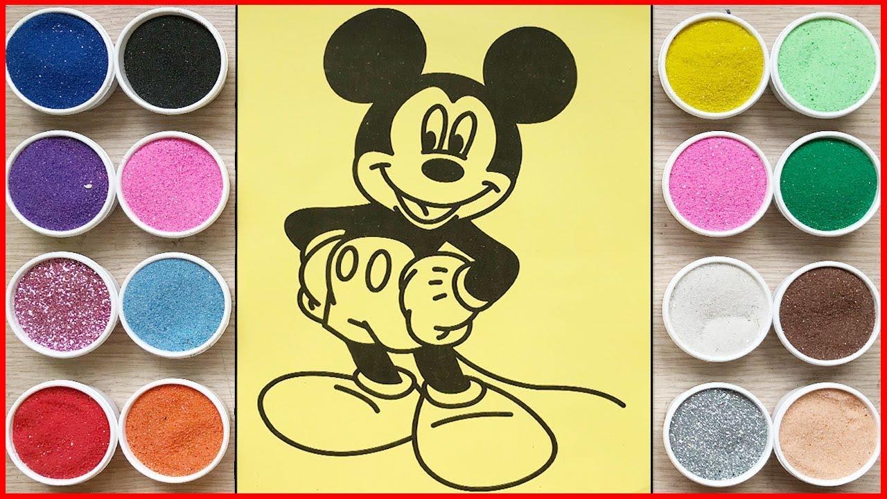 Đồ chơi trẻ em TÔ MÀU TRANH CÁT CHUỘT MICKEY DỄ THƯƠNG – Mickey Sand painting toys (Chim Xinh)