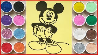 Đồ chơi trẻ em TÔ MÀU TRANH CÁT CHUỘT MICKEY DỄ THƯƠNG - Mickey Sand painting toys (Chim Xinh)