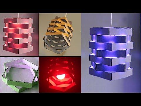 A Beautiful Lamp From Cardboard - DIY Craft