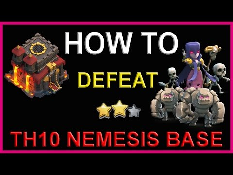 Clash Of Clans | HOW TO ALWAYS DEFEAT NEMESIS BASE LAYOUT | TH10 Strategy