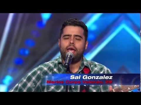 America's Got Talent 2014 - Auditions - Sal Gonzalez Singing Ain't No Sunshine by Bill Withers.