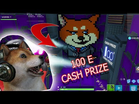 Fortnite MAP EDIT 100 Euros Cash Prize Shiba Dab Pixel Art #Shibamonster