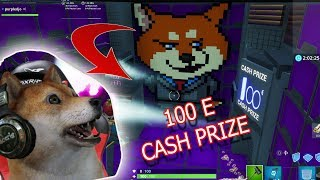 Fortnite MAP EDIT 100 euros cash prize Shiba Dab Pixel Art #Shibamonster