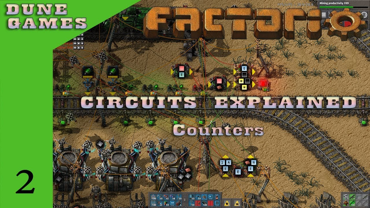 Factorio - Circuits Explained - Counters