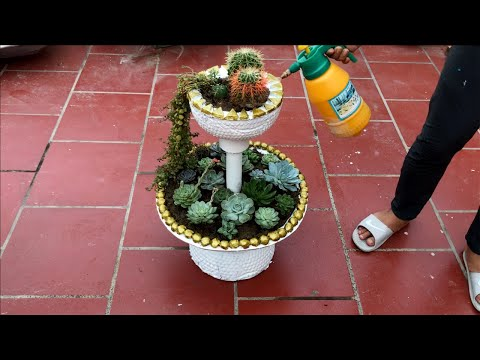 DIY - ❤️ BEAUTIFUL and EASY ❤️ - Gorgeous home- made pots - Craft ideas