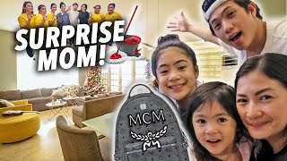 MOMS Birthday CLEAN House Surprise (& MCM Bag) | Ranz and Niana