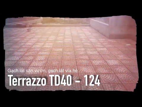 Gạch Terazzo đỏ TD40-124 Tại Công Trình | Gạch Lát Sân Vườn, Gạch Lát Vỉa Hè | Xây Dựng Hưng Yên.vn