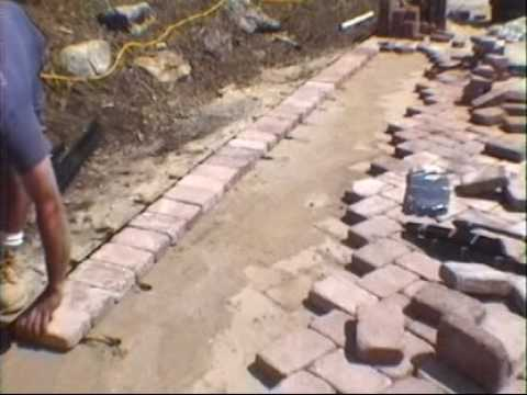 Paving Stones Installation Edge Restraint System