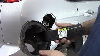 #Как снять кожух заливной горловины бензобака на Ford Focus