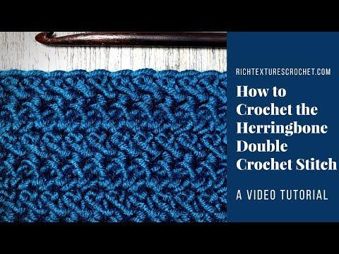 Herringbone Double Crochet Stitch - How to Crochet