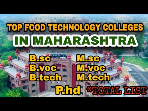 TOP B.sc, B.tech,B.voc Food Technology Colleges in Maharastra | University Wise Total List | 2021New