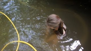Metal Detecting An Old River Crossing And Dredging The Creek!