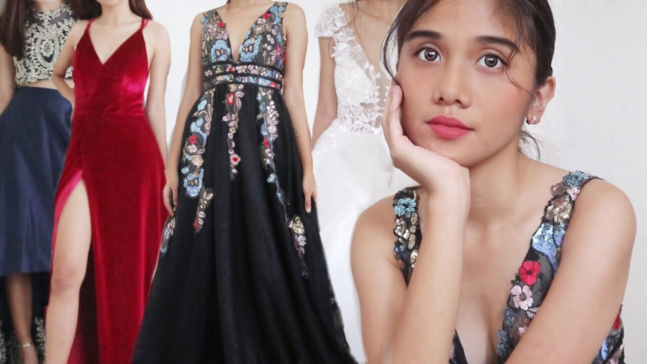 170feab991e PROM DRESS TRY ON HAUL (Philippines) - YouTube