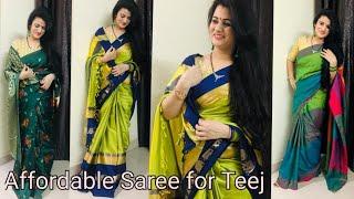 Flipkart Saree Haul Teej Special Saree Review Beautiful Silk Saree Review