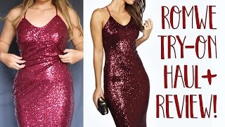 ROMWE TRY-ON HAUL + REVIEW!