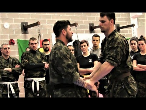 KRAV MAGA TRAINING • How to get rid of a BULLY that blocks your hands (part 1)