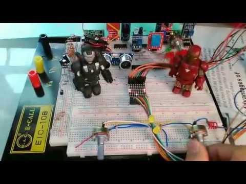 可兩人對戰乒乓球遊戲  Arduino + 8x8矩陣LED