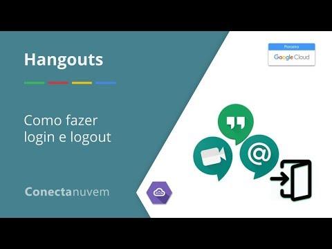 Como fazer login e logout no Hangouts - Chat ou Meet
