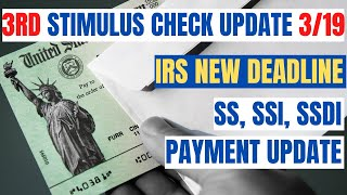 $1,400 Third Stimulus Check Update *NEW IRS DEADLINE*