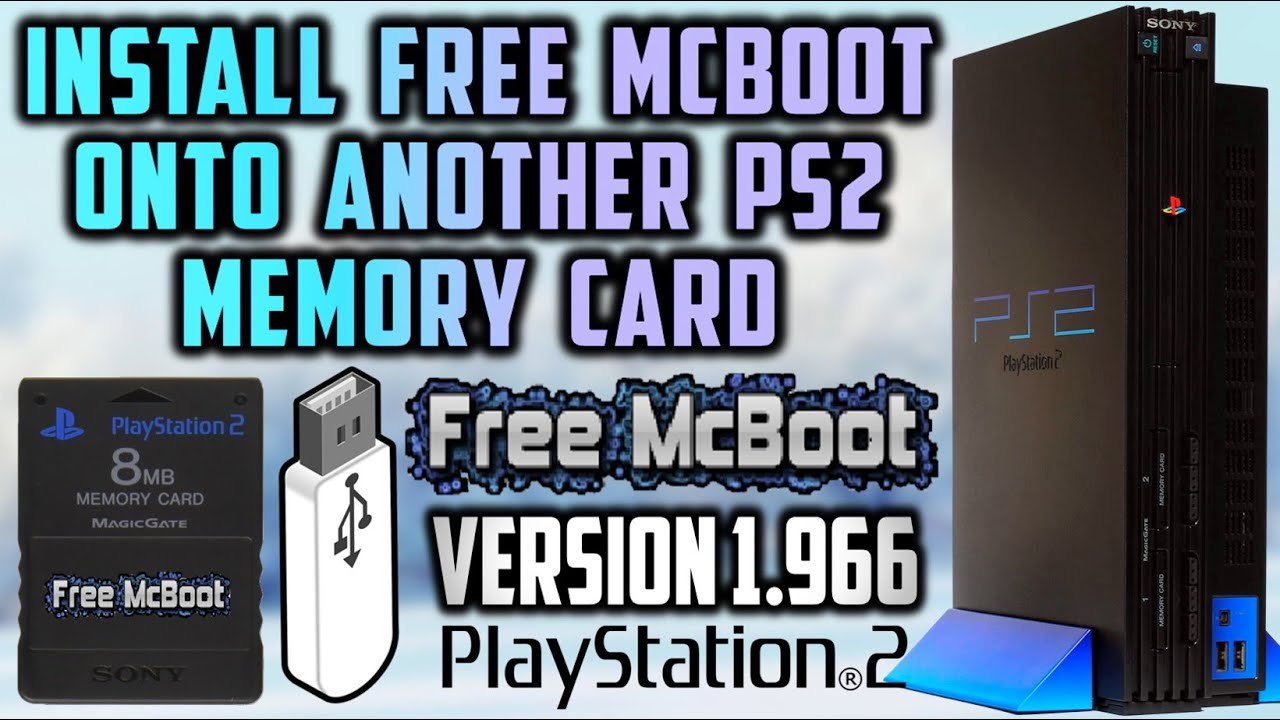 PS2 Install Free MCBoot Onto Memory Card! (Version 1 966) 2019!