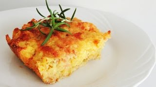 Potato Ham & Cheese Casserole Recipe (gateau Di Patate)